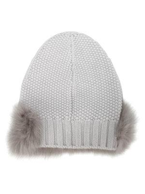 Fabiana Filippi: beanies online - Fox fur embellished cashmere beanie