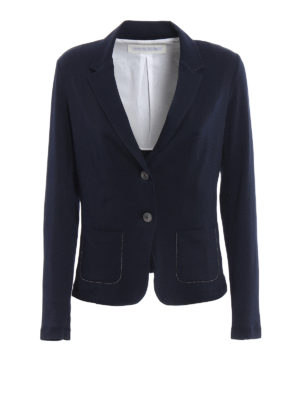 Fabiana Filippi: blazers - Slim fit embellished cotton blazer
