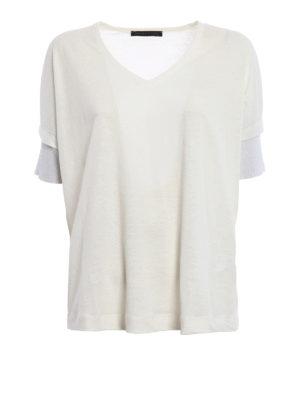 Fabiana Filippi: blouses - Boxy linen blend jersey blouse