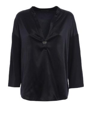 Fabiana Filippi: blouses - Embellished satin blouse