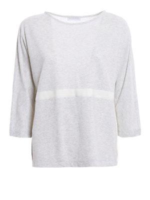 Fabiana Filippi: blouses - Macrame insert cotton blouse