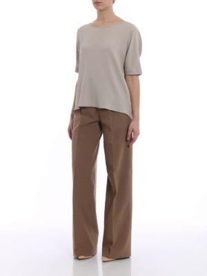 Fabiana Filippi: blouses online - Beige silk blend over blouse