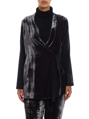 Fabiana Filippi: blouses online - Chenille and silk belted blouse