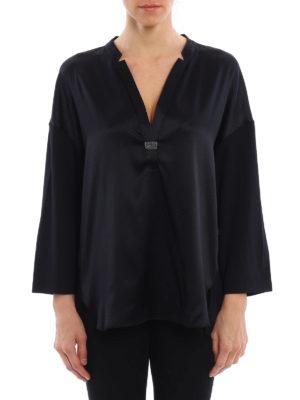 Fabiana Filippi: blouses online - Embellished satin blouse