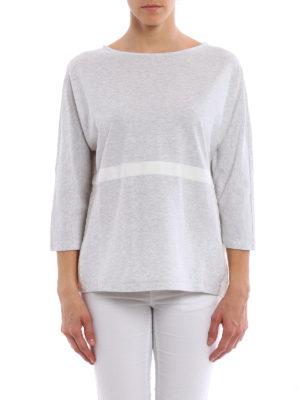 Fabiana Filippi: blouses online - Macrame insert cotton blouse