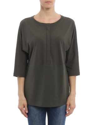 Fabiana Filippi: blouses online - Silk panelled over blouse