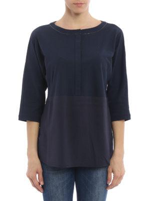 Fabiana Filippi: blouses online - Silk panelled over blouse