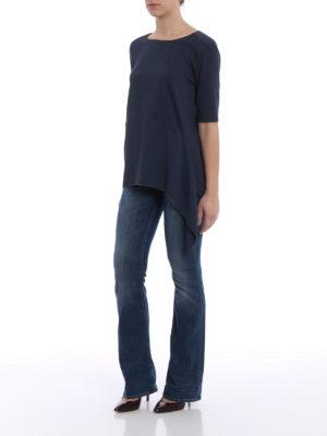 Fabiana Filippi: blouses online - Silk panelled rib knitted blouse