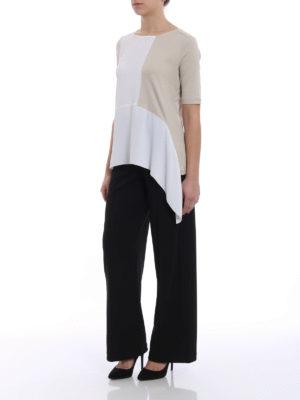 Fabiana Filippi: blouses online - Silk panelled ribbed blouse