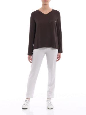 Fabiana Filippi: blouses online - Spot light detail crepe boxy blouse