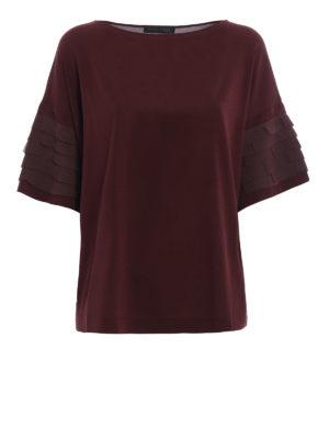 Fabiana Filippi: blouses - Pleated sleeve silk crepe blouse