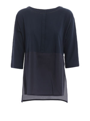 Fabiana Filippi: blouses - Silk panelled over blouse