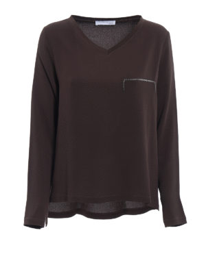Fabiana Filippi: blouses - Spot light detail crepe boxy blouse