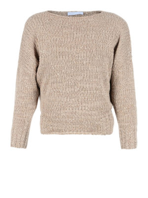 Fabiana Filippi: boat necks - Cotton boat neck crop sweater