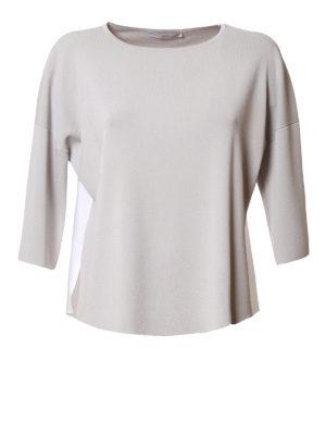 Fabiana Filippi: boat necks - Cotton insert boxy boatneck