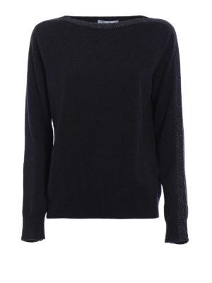 Fabiana Filippi: boat necks - Lurex boat neck wool sweater