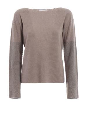 FABIANA FILIPPI: maglia collo a barchetta - Maglia in merino con maniche lurex