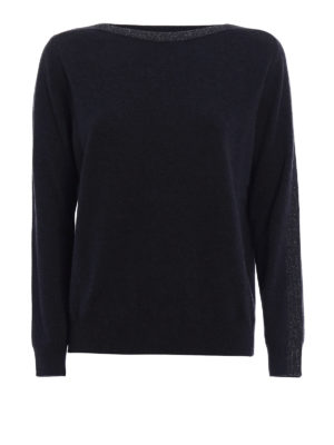Fabiana Filippi: boat necks - Lurex trimmed merino blend sweater