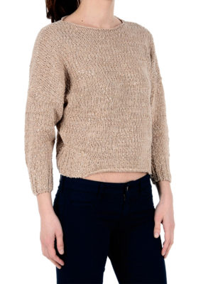 Fabiana Filippi: boat necks online - Cotton boat neck crop sweater
