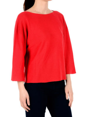 Fabiana Filippi: boat necks online - Cotton boat neck over sweater