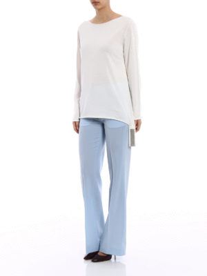 Fabiana Filippi: boat necks online - Embellished hem cotton sweater