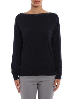 Fabiana Filippi: boat necks online - Lurex boat neck wool sweater