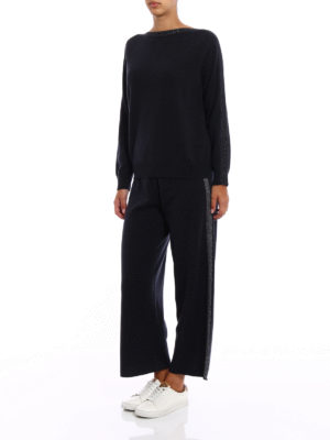 Fabiana Filippi: boat necks online - Lurex trimmed merino blend sweater