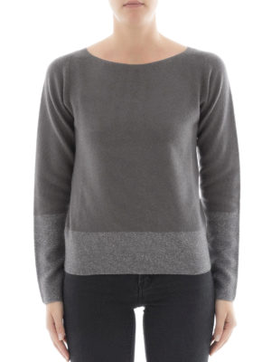 Fabiana Filippi: boat necks online - Platinum blend two-tone sweater