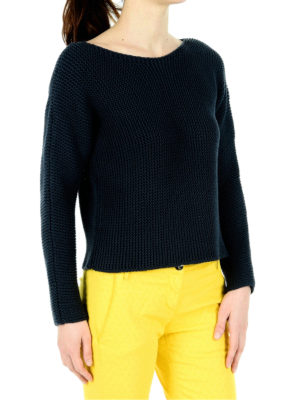 Fabiana Filippi: boat necks online - Purl stitch boat neck sweater