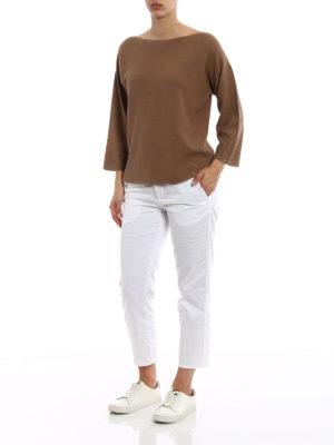 Fabiana Filippi: boat necks online - Rice stitch cotton sweater