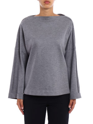 Fabiana Filippi: boat necks online - Studded merino boxy sweater