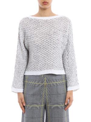 Fabiana Filippi: boat necks online - Textured cotton crop sweater