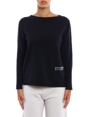 Fabiana Filippi: boat necks online - Zipped pocket boat neck pullover