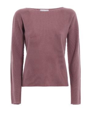 FABIANA FILIPPI: maglia collo a barchetta - Pullover rosa in lana e seta