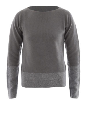 Fabiana Filippi: boat necks - Platinum blend two-tone sweater