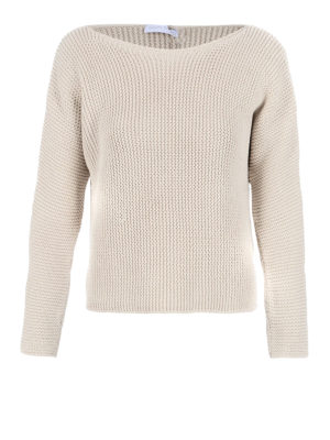 Fabiana Filippi: boat necks - Purl stitch boat neck sweater