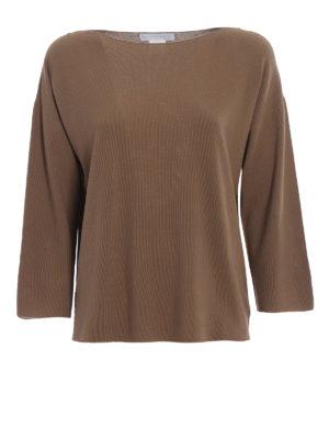 Fabiana Filippi: boat necks - Rice stitch cotton sweater