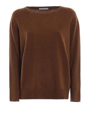 FABIANA FILIPPI: maglia collo a barchetta - Pull misto cashmere con scollo luccicante