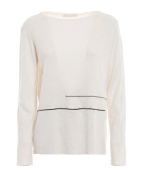 FABIANA FILIPPI: maglia collo a barchetta - Soffice maglia in merino con punti luce