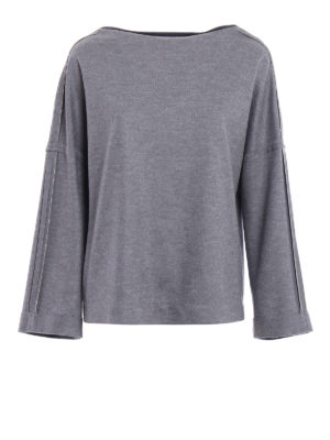 Fabiana Filippi: boat necks - Studded merino boxy sweater