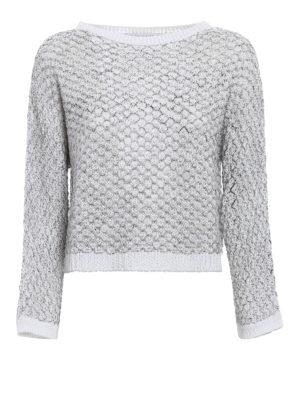 Fabiana Filippi: boat necks - Textured cotton crop sweater