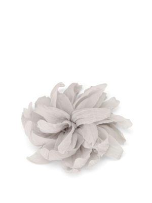 Fabiana Filippi: Brooches - Silk chiffon flower brooch