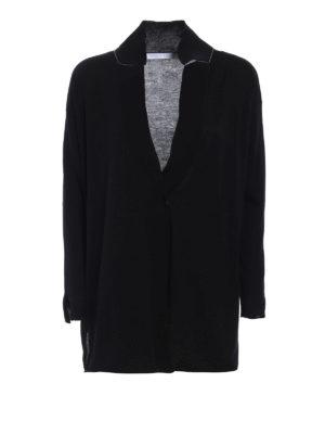 Fabiana Filippi: cardigans - Blazer-inspired cotton cardigan