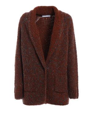 Fabiana Filippi: cardigans - Blazer-inspired wool blend cardigan