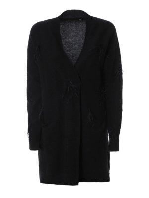 Fabiana Filippi: cardigans - Feather detail wool blend cardigan