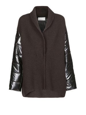 FABIANA FILIPPI: cardigan - Cardigan in misto lana con maniche imbottite