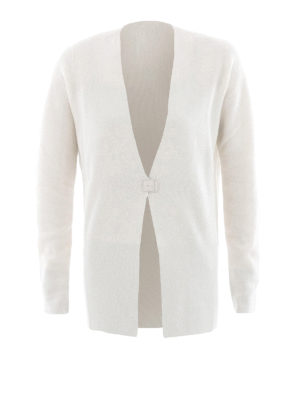 Fabiana Filippi: cardigans - One button Platinum blend cardigan