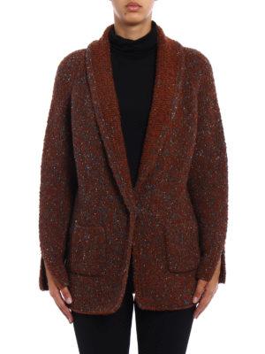 Fabiana Filippi: cardigans online - Blazer-inspired wool blend cardigan