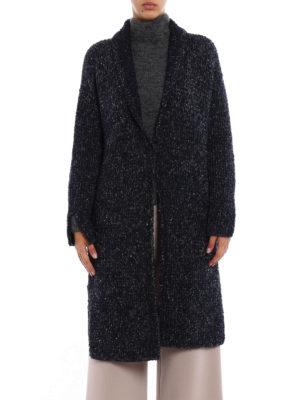 Fabiana Filippi: cardigans online - Boucle wool nightgown cardigan
