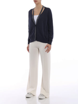 Fabiana Filippi: cardigans online - Cotton cardigan with mini studs